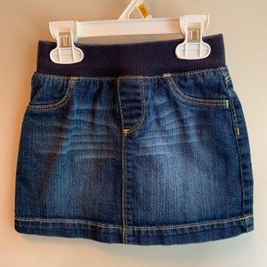 Old Navy toddler girl denim skirt